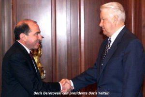 Boris Berezovski con presidente Boris Yeltsin